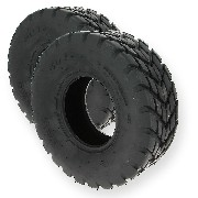 Pair of Front Road Tires for ATV Quad Bashan 200cc BS200S3 - 19x7.00-8
