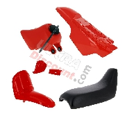 Fairing set complete for Yamaha PW50 (Red)