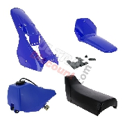 Fairing set complete for Yamaha PW80 (Blue)