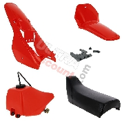 Fairing set complete for Yamaha PW80 (Red)