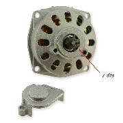 Clutch Bell + Housing + 7 Tooth Sprocket TF8 (large pitch)