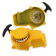Aluminum Recoil Starter + Aluminum Sprocket for Pocket Quad - Yellow