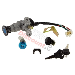 Complete Lock Assy Baotian Scooter BT49QT-9 (Type 1)