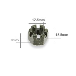 Castle Nut for Steering Knuckle for ATV Bashan Quad 300cc (BS300S-18)