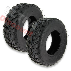Pair of Front Tires for ATV Bashan Quad 200cc BS200S-7 (21x7-10)