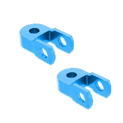 2 Ground Clearance Shock Extension for Dirt Bike - 60mm - Blue