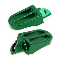 Custom Aluminum Foot Pegs for Dirt Bike - Green