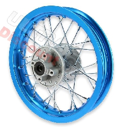 12'' Rear Rim for Dirt Bike (type 1) - light blue
