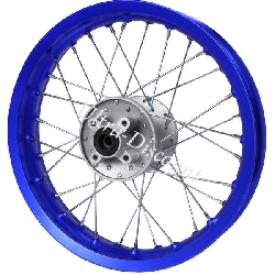 12'' Rear Rim for Dirt Bike (type 1) - Blue