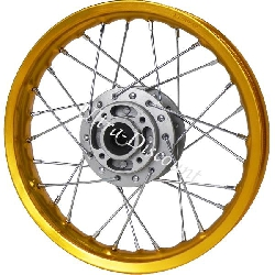 12'' Front Rim for Dirt Bike - Gold