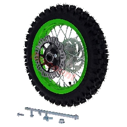 12'' Rear Wheel for Dirt Bike AGB27 (12mm Tread Lug) - Green