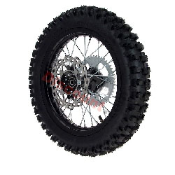 Full 14'' Rear Wheel for Dirt Bike AGB30 - Black