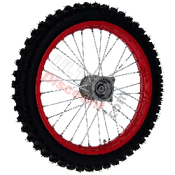 17'' Front Wheel for Dirt Bike AGB30 - Red