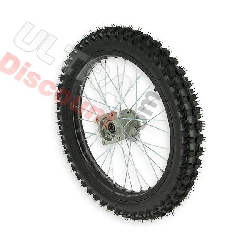 17'' Front Wheel for Dirt Bike AGB30 - Black