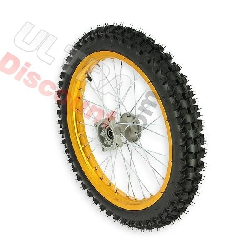 17'' Front Wheel for Dirt Bike AGB30 - Gold