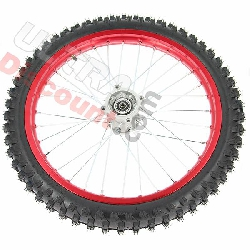 19'' Front Wheel for Dirt Bike AGB30 - Red
