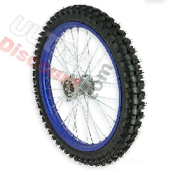 19'' Front Wheel for Dirt Bike AGB30 - Blue