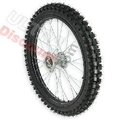19'' Front Wheel for Dirt Bike AGB30 - Black