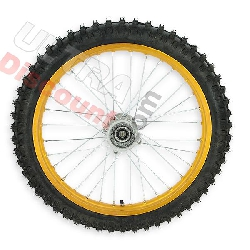 19'' Front Wheel for Dirt Bike AGB30 - Gold