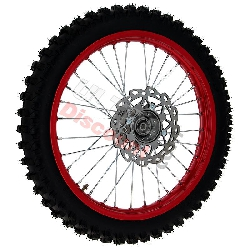 17'' Front Wheel for Dirt Bike AGB30 Complete - Red