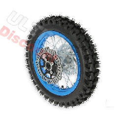 12'' Rear Wheel for Dirt Bike AGB27 (12mm Tread Lug) - Blue