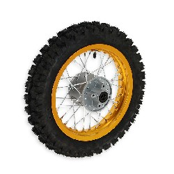 12'' Rear Wheel for Dirt Bike AGB27 (12mm Tread Lug) - Gold