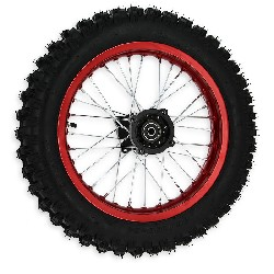 Full 14'' Rear Wheel for Dirt Bike AGB30 - Red