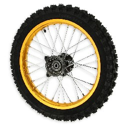 14'' Front Wheel for Dirt Bike AGB29 - Gold