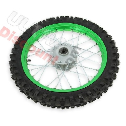 14'' Front Wheel for Dirt Bike AGB27 (10mm Tread Lug) - Green