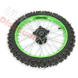 14'' Front Wheel for Dirt Bike AGB29 - Green