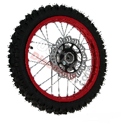 14'' Front Wheel for Dirt Bike AGB27 (10mm Tread Lug) - Red