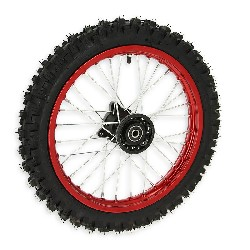 Full 14'' Front Wheel for Dirt Bike AGB29 - Red
