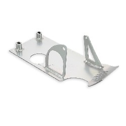 Belly Pan for Dirt Bike with a Starter Motor - Chrome