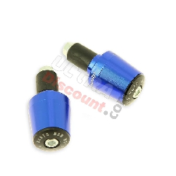 Custom Handlebar End Plugs (type 7) - blue for ATV Big Foot électrique