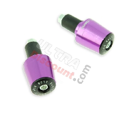 Custom Handlebar End Plugs (type 7) - purple for Racing pocket ZPF