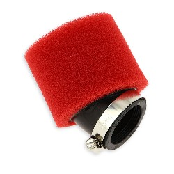 Dual Layer Foam Air Filter 40mm Red