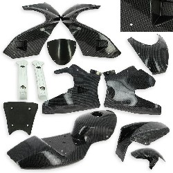 Carbon Fairing - Special Edition - for Pocket Bike 47cc - 49cc - Black