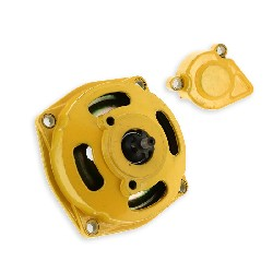 Clutch Bell + Housing + 7 Tooth Sprocket - Yellow