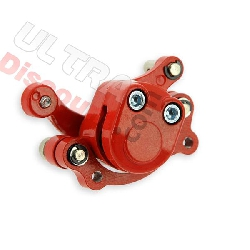 Brake caliper front left red color for Pocket quad