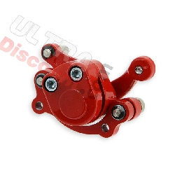 Brake caliper front right red color for pocket quad