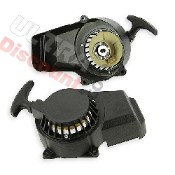 Pull starter Graphite Black Aluminium gear pocket bike -