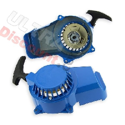Mini moto Aluminium Pull starter pocket bike - Blue