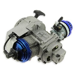 Complete 53cc UD Racing engine for Pocket Bike - BLUE