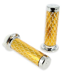 Handlebar Grips - Scale Style - Gold