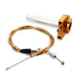 HQ Billet Quick Throttle (Gold) + Throttle Cable (Gold)