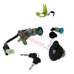 Complete Lock Assy for Jonway Scooter 50cc YY50QT-28B