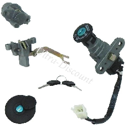 Complete Lock Assy for Baotian Scooter BT49QT-11 (type 2)