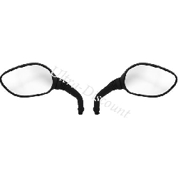 Pair of mirrors for Baotian Scooter BT49QT-11 - Alu