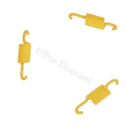 Set of 3 Yellow Clutch Springs for Baotian Scooter BT49QT-7 - Soft Springs