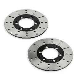 Pair of Front Brake Discs for ATV Bashan Quad 200cc (BS200S-7)